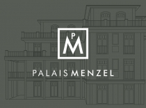 Logo Erscheinungsbild Corporate Design Palais Menzel Berlin Grunewald Immobilienmarketing Real Estate