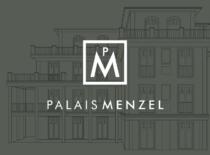 Logo Erscheinungsbild Corporate Design Palais Menzel Berlin Grunewald Immobilienmarketing Real Estate